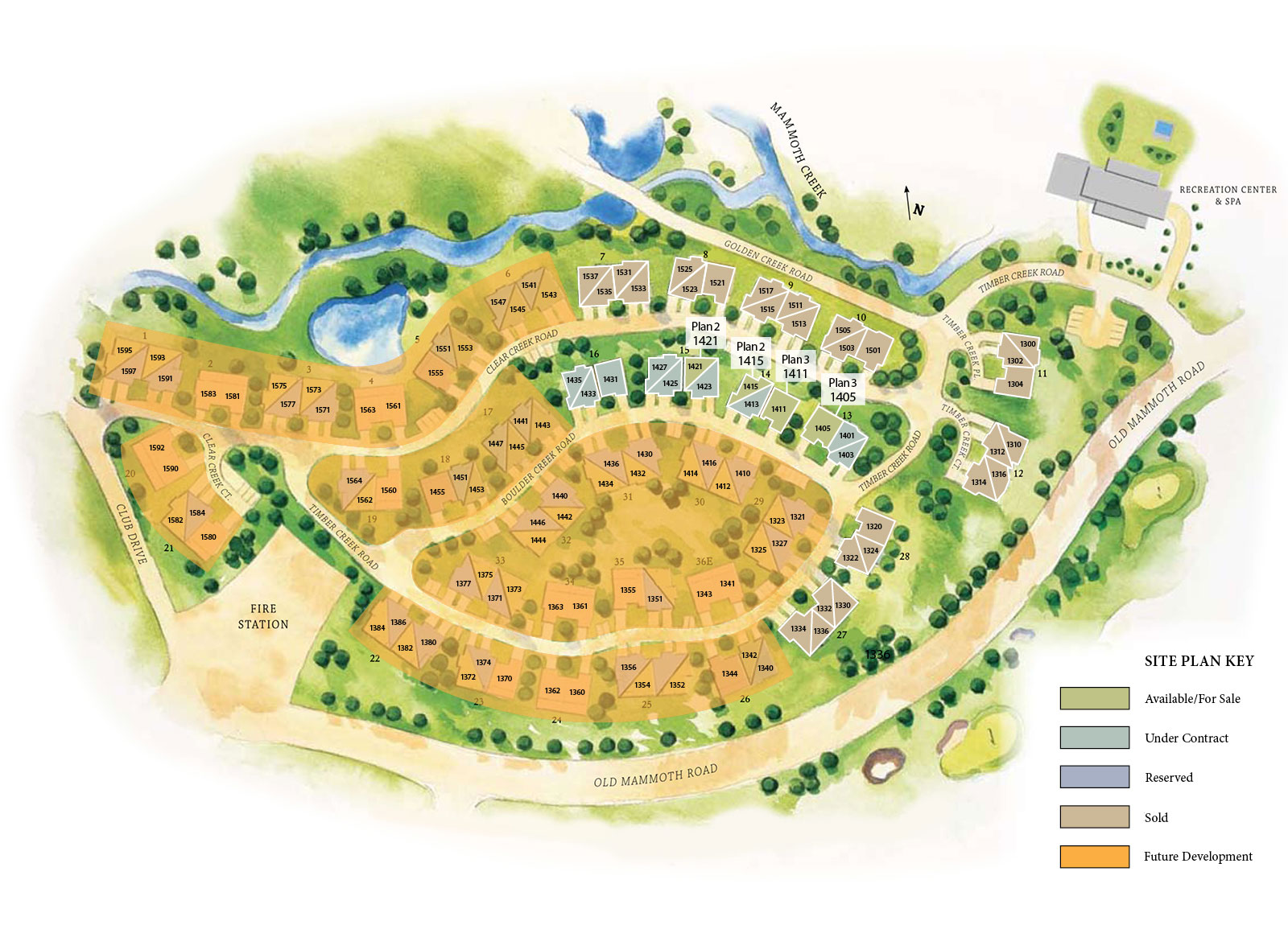 Creekhouse Site Map